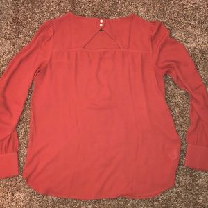 LOFT Tops - Burnt orange LOFT blouse with cut-out designs